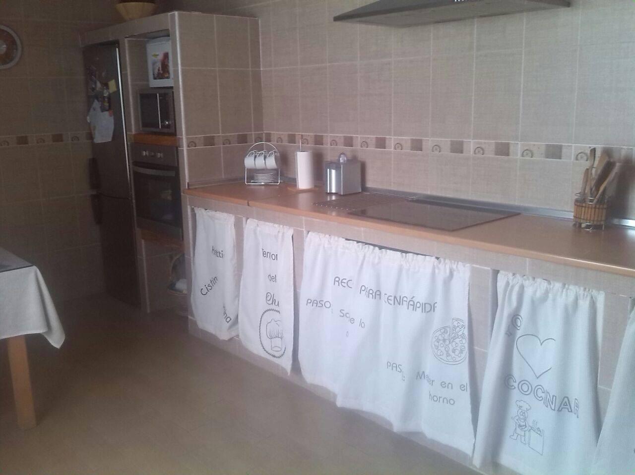 Cortinas para cocina mamposter a la boutique del peque - Cocinas rusticas de mamposteria ...